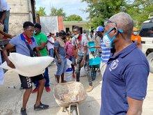 대한민국 정부, WFP 아이티 지진 구호 활동에 50만 달러 공여