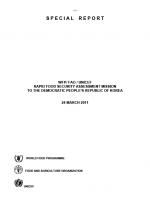 북한 – WFP/FAO/UNICEF 식량조사보고서(Rapid Food Security Assessment), 2011년 3월